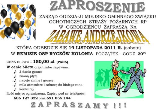 Zaproszenie Na Zabawę Andrzejkową Nasza Gmina Ogrodzieniec